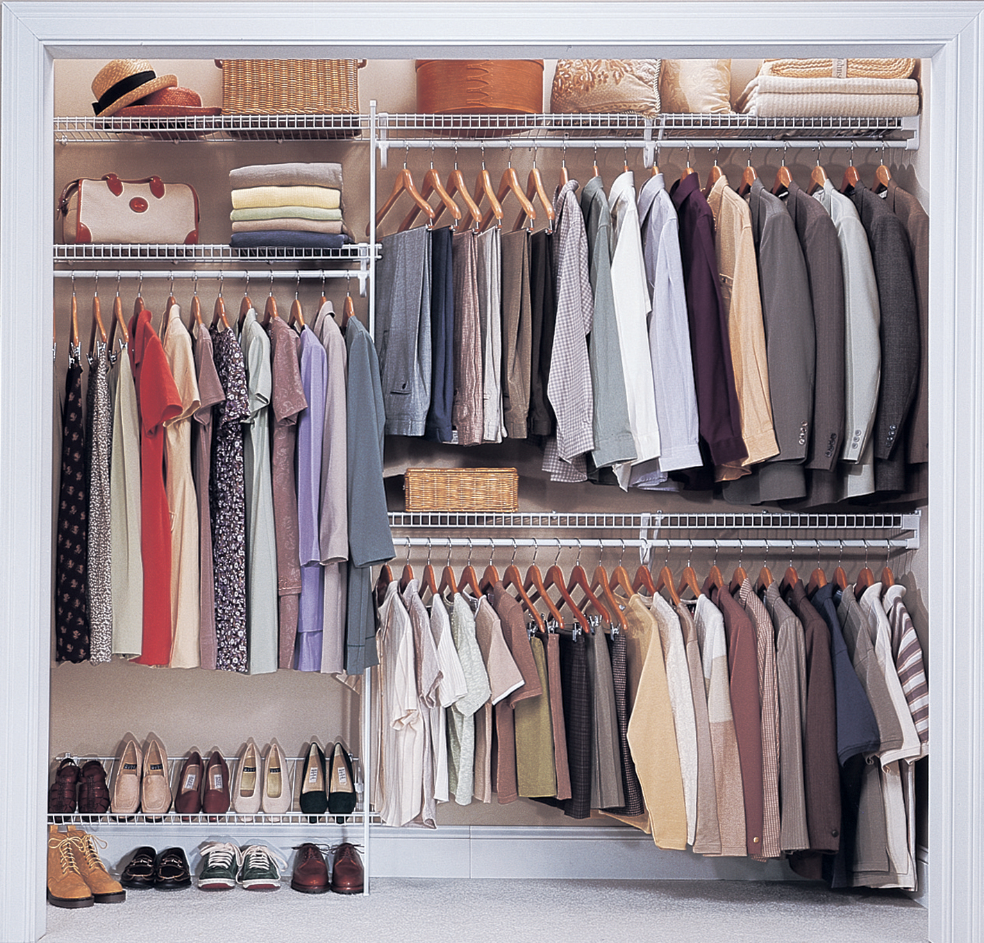 shelving clothes closet with top tenerife pin com wire rod