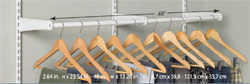 Now Available: 5656 2ft - 4ft Adjustable ShelfTrack Hang Rod