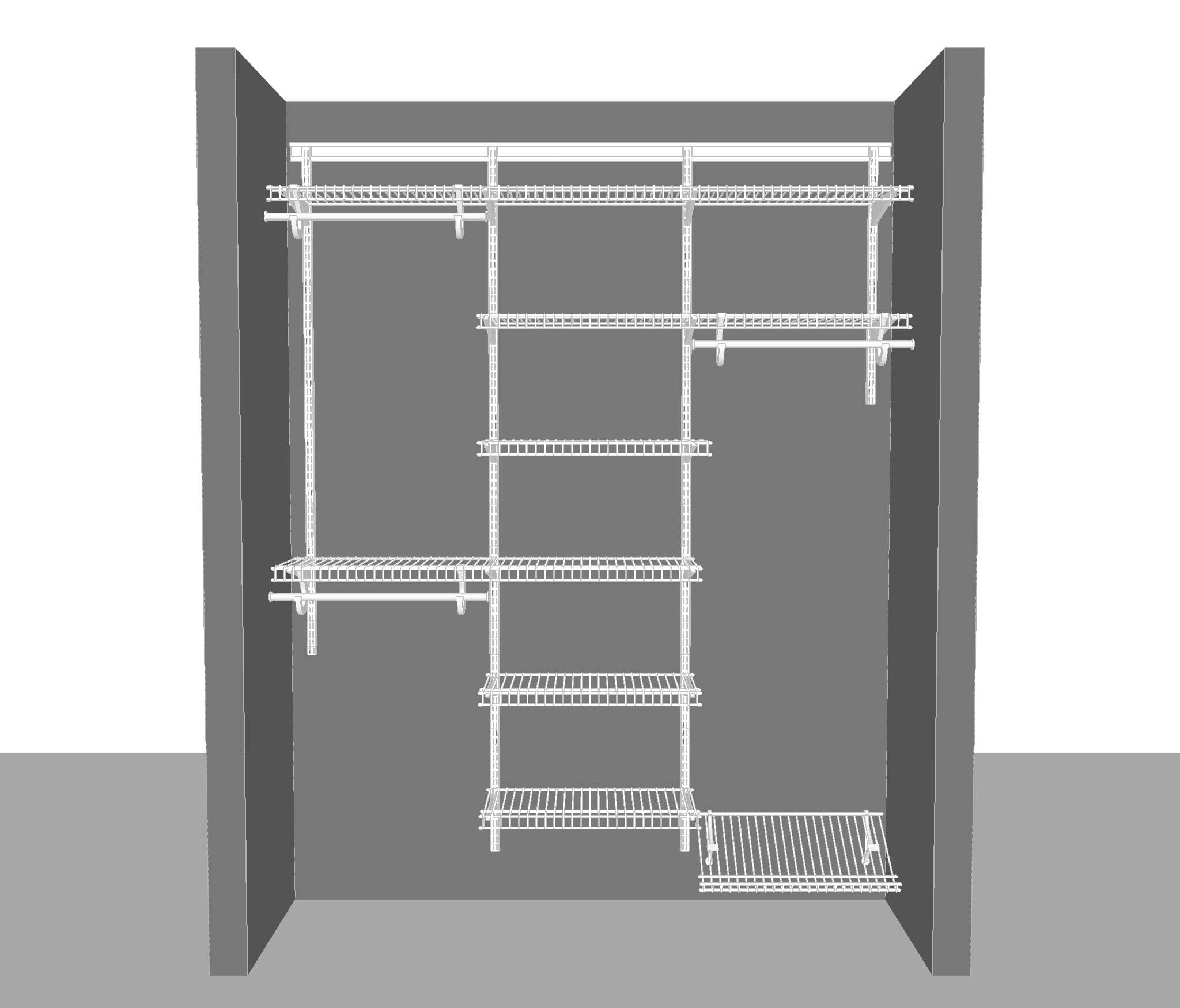 adjustable closet package 2. Black Bedroom Furniture Sets. Home Design Ideas