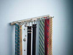 NEW - Nickel Sliding Tie & Belt Rack