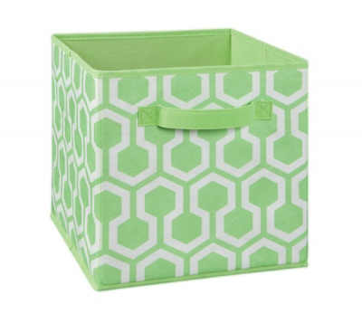 1843 - Green Hexagon Print Fabric Drawer