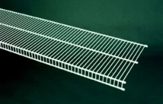 74026 - 1.83m / 6' length of CloseMesh 30.5cm / 12'' deep shelving