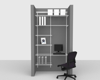 Adjustable Office Package 1 - ShelfTrack with Linen shelving up to 1,22m/ 4' wide