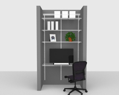 Adjustable Office Package 2 - ShelfTrack with Linen shelving up to 1,22m/ 4' wide