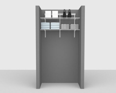 Basic Package 1 - ShelfTrack with Linen Shelving, Available in 2', 3', 4' & 6' widths