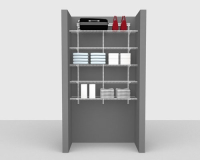 Basic Package 3 - ShelfTrack with Linen shelving, Available in 2', 3', 4' & 6' widths