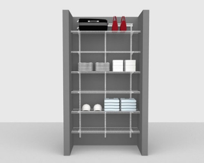 Basic Package 4 - ShelfTrack with Linen shelving, Available in 2', 3', 4' & 6' widths