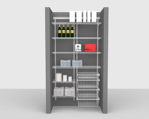 Adjustable Package 2 - ShelfTrack with CloseMesh shelving up to 122cm / 4' wide