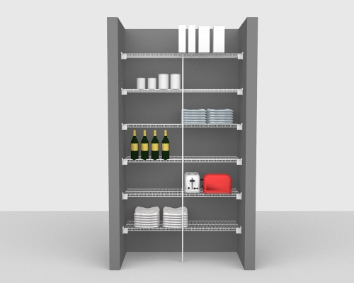 Fixed Mount Package 1 - CloseMesh shelving up to 122cm / 4' wide
