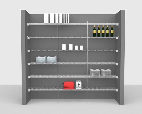 Fixed Mount Package 1 - CloseMesh shelving up to 244cm / 8' wide