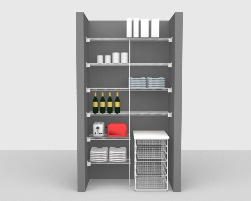 Fixed Mount Package 2 - CloseMesh shelving up to 122cm / 4' wide
