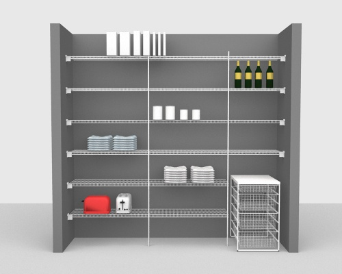 Fixed Mount Package 2 - CloseMesh shelving up to 244cm / 8' wide