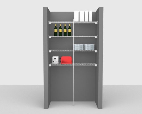 Fixed Mount Package 3 - CloseMesh shelving up to 122cm / 4' wide