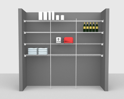 Fixed Mount Package 3 - CloseMesh shelving up to 244cm / 8' wide