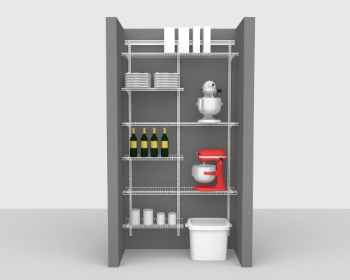 Adjustable Package 4 - ShelfTrack with CloseMesh shelving up to 122cm / 4' wide
