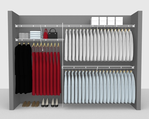 Fixed Mount Package 1 - Shelf & Rod shelving up to 305cm / 10' wide