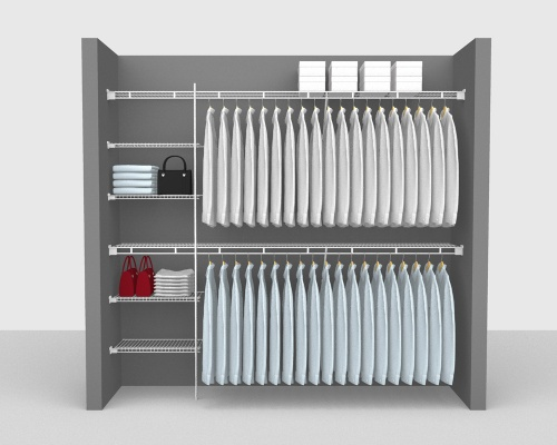 Fixed Mount Package 2 - Shelf & Rod shelving up to 244cm / 8' wide