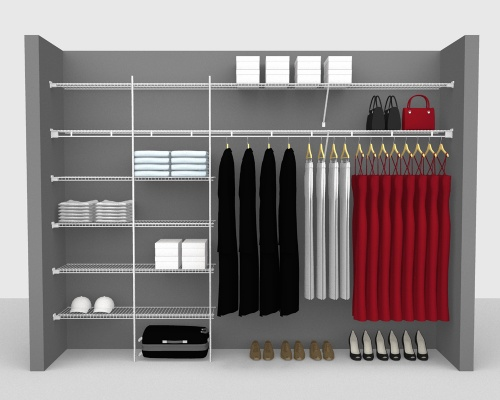 Fixed Mount Package 3 - Shelf & Rod shelving up to 305cm / 10' wide