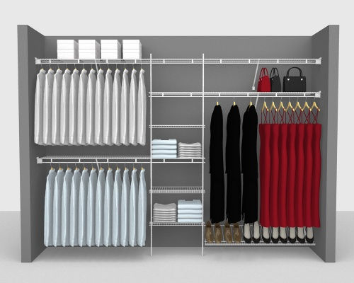 Fixed Mount Package 4 - Shelf & Rod shelving up to 305cm / 10' wide
