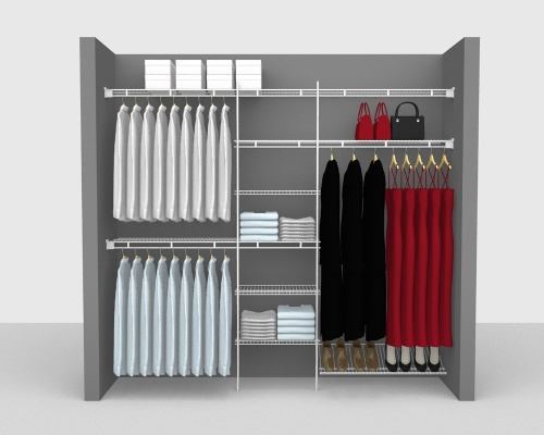 Fixed Mount Package 4 - Shelf & Rod shelving up to 244cm / 8' wide
