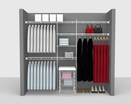 Fixed Mount Package 5 - Shelf & Rod shelving up to 244cm / 8' wide