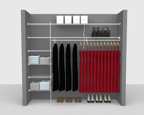 Fixed Mount Package 3 - SuperSlide shelving up to 244cm / 8' wide