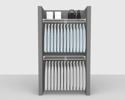 Fixed Mount Package 4 - SuperSlide shelving up to 122cm / 4' wide