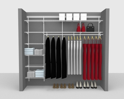 ShelfTrack Package 3 - SuperSlide shelving up to 244cm / 8' wide