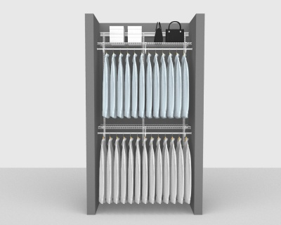 ShelfTrack Package 4 - SuperSlide shelving up to 122cm / 4' wide