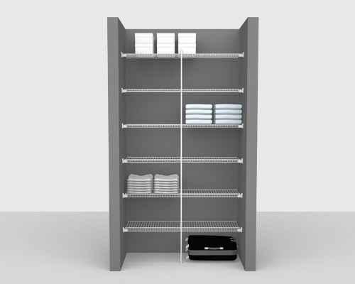 Fixed Mount Package 1 - Linen shelving up to 122cm / 4' wide