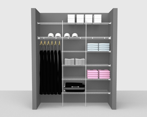 Fixed Mount Package 4 - Linen shelving up to 183cm / 6' wide