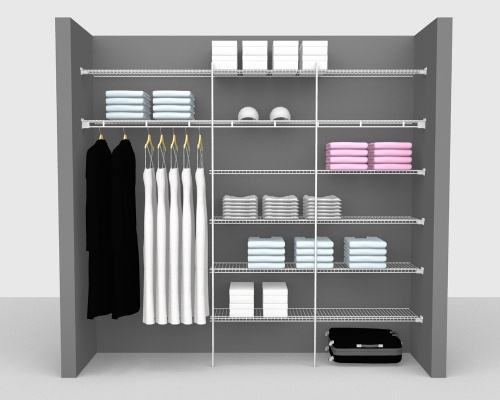 Fixed Mount Package 4 - Linen shelving up to 244cm / 8' wide
