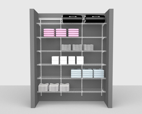 Adjustable Package 1 - ShelfTrack with Linen shelving up to 183cm / 6' wide