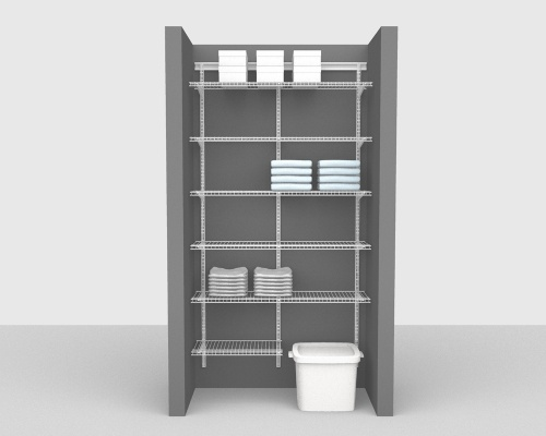 Adjustable Package 2 - ShelfTrack with Linen shelving up to 122cm / 4' wide