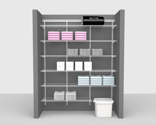 Adjustable Package 2 - ShelfTrack with Linen shelving up to 183cm / 6' wide