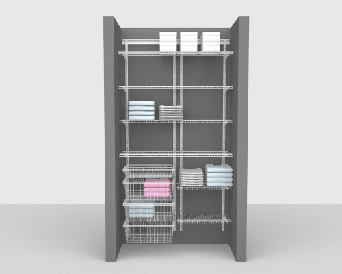 Adjustable Package 3 - ShelfTrack with Linen shelving up to 122cm / 4' wide