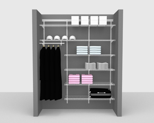 Adjustable Package 4 - ShelfTrack with Linen shelving up to 183cm / 6' wide