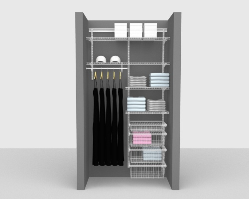 Adjustable Package 5 - ShelfTrack with Linen shelving up to 122cm / 4' wide
