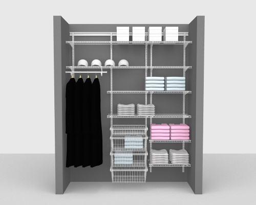 Adjustable Package 5 - ShelfTrack with Linen shelving up to 183cm / 6' wide