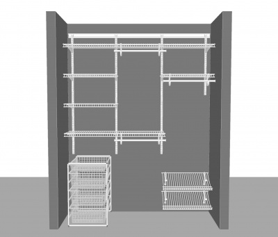 Adjustable closet package 3