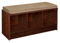 1309 - 3 Cube Dark Cherry Storage Bench