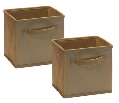 1572 - 2 Pack Mini Fabric Drawers Mocha