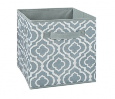 1842 - Iron Gate Grey Print Fabric Drawer
