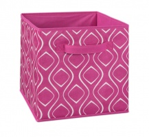 1844 - Fuchsia Diamond Print Fabric Drawer