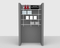 Basic Package 2 - ShelfTrack with Linen shelving, Available in 2', 3', 4' & 6' widths