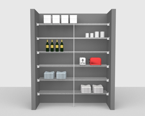 Fixed Mount Package 1 - CloseMesh shelving up to 183cm / 6' wide