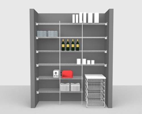 Fixed Mount Package 2 - CloseMesh shelving up to 183cm / 6' wide