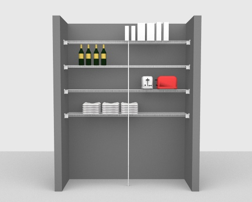 Fixed Mount Package 3 - CloseMesh shelving up to 183cm / 6' wide