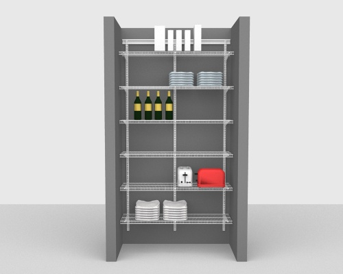 Adjustable Package 1 - ShelfTrack with CloseMesh shelving up to 122cm / 4' wide