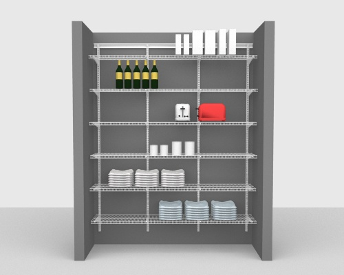 Adjustable Package 1 - ShelfTrack with CloseMesh shelving up to 183cm / 6' wide